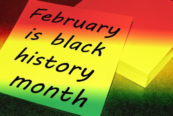 """Sign that says """"February is black history month"""""""
